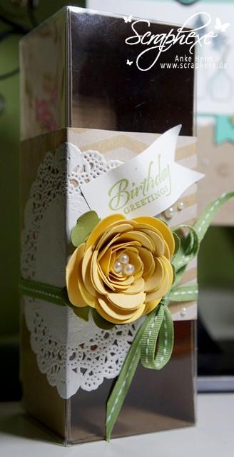 Geschenkschachtel, Spiralblume - scraphexe