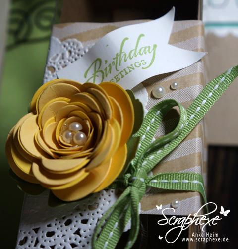Geschenkbox, Spiralblume - scraphexe