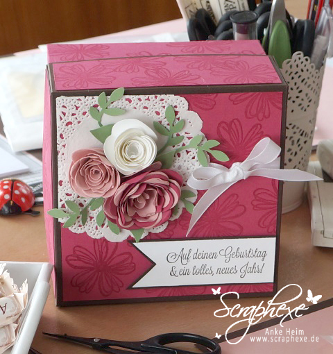 Workshop April #scraphexe #schachtel  #box