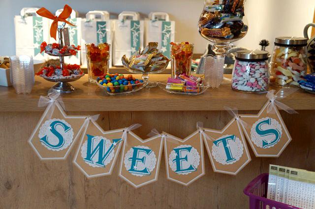 Candy-Bar, Scheunenparty, Scraphexe