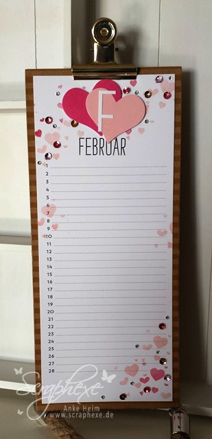 Februar, Kalenderkunst, Perpetual Birthday Calendar, scraphexe