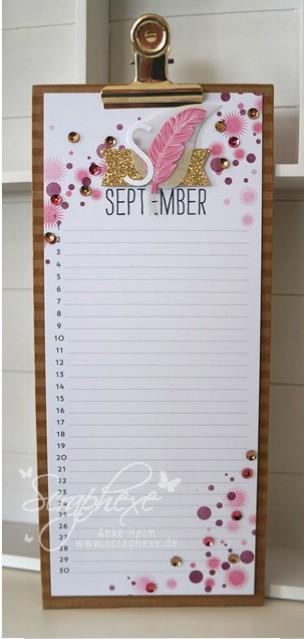 Projektset Kalenderkunst, September, scraphexe