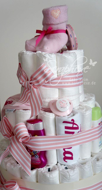 Windeltorte, Baby Girl, Geburt